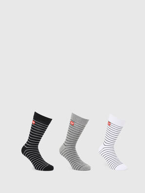 SKM-RAY-THREEPACK, Multicolor/Black - Socks