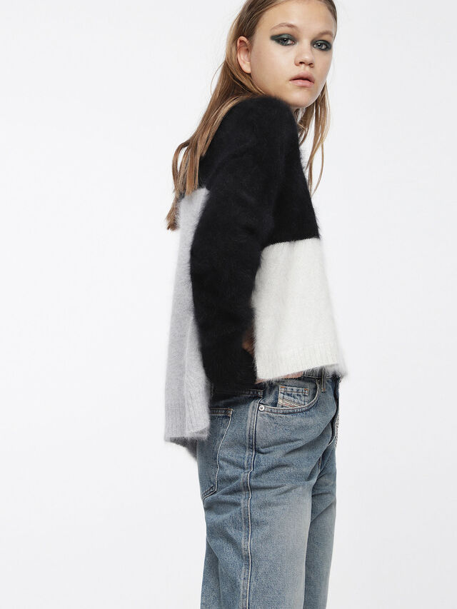 Diesel - M-AIRY, Black/White - Knitwear - Image 3