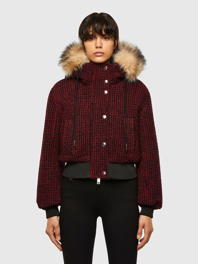 Diesel - W-SAMOEI-A, Black/Red - Winter Jackets - Image 1