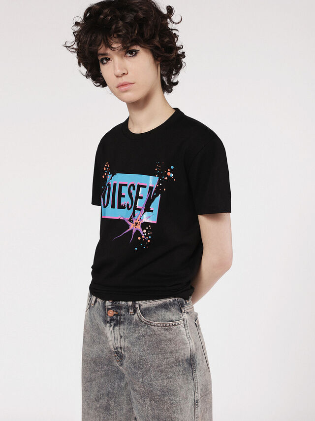 Diesel - T-EXPLO, Black - T-Shirts - Image 1