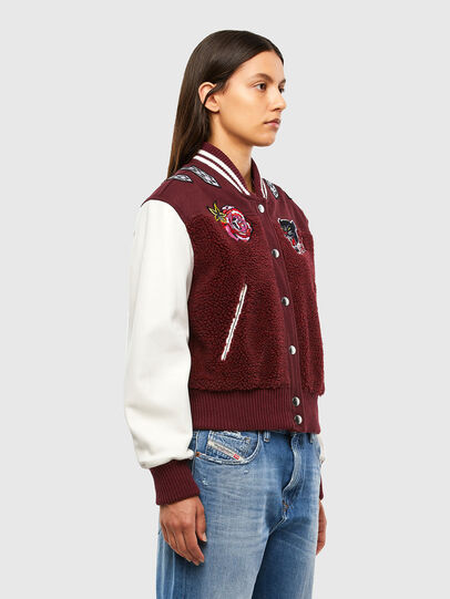 Diesel - L-KOLT, Violet - Leather jackets - Image 3