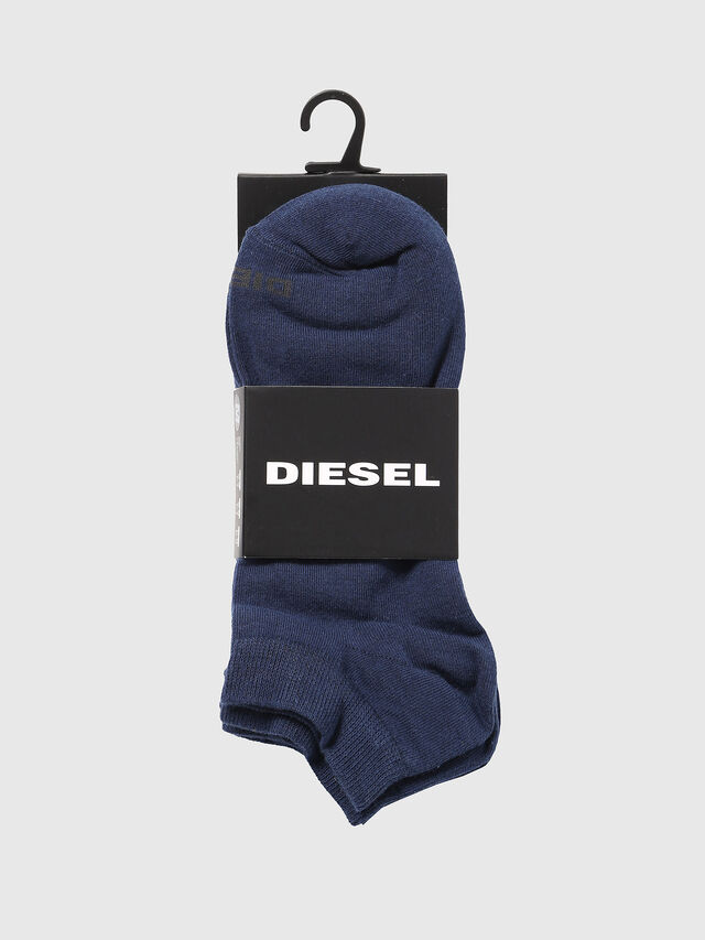 Diesel SKM-GOST-THREEPACK, Blue - Low-cut socks - Image 2
