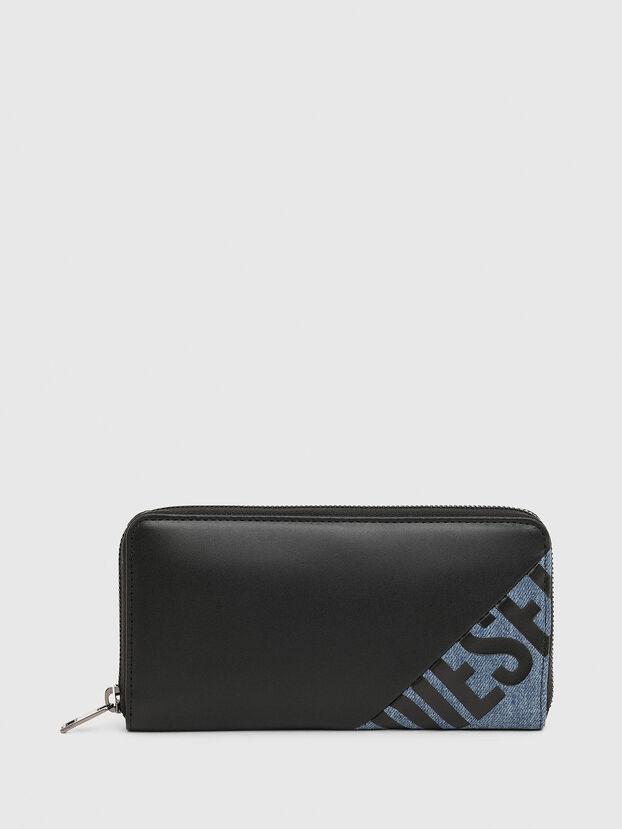 24 ZIP, Black/Blue - Zip-Round Wallets