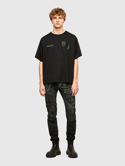 Diesel - T-CROLF, Black - T-Shirts - Image 4