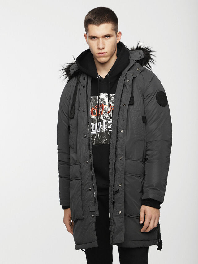 Diesel - W-BULLIONZ, Dark grey - Winter Jackets - Image 1