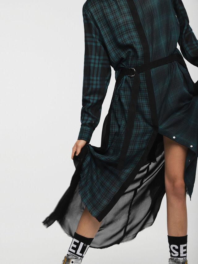 Diesel - D-BAGGY, Green/Black - Dresses - Image 3