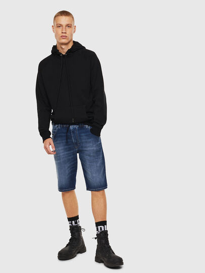 Diesel - D-KROOSHORT JOGGJEANS, Medium blue - Shorts - Image 6