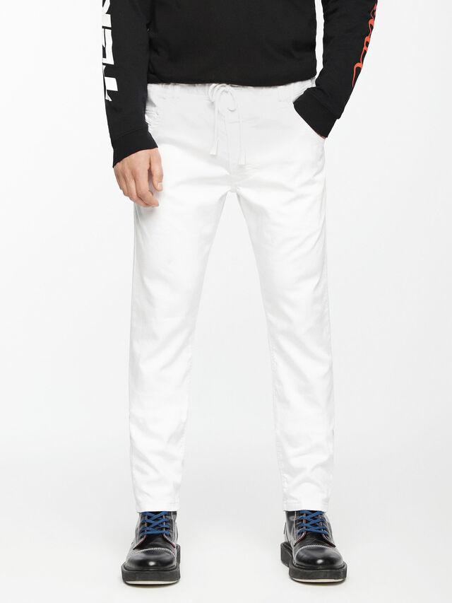Diesel Krooley JoggJeans 0684U, White - Jeans - Image 2