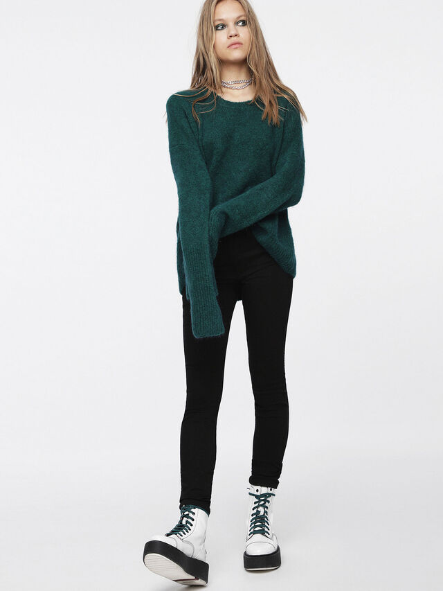 Diesel - M-ALPY, Bottle Green - Knitwear - Image 4