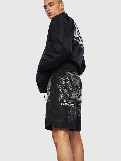Diesel - P-KUMI-PRINT-A, Black - Shorts - Image 4