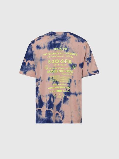 Diesel - T-JUST-SLITS-X86, Pink/Blue - T-Shirts - Image 2