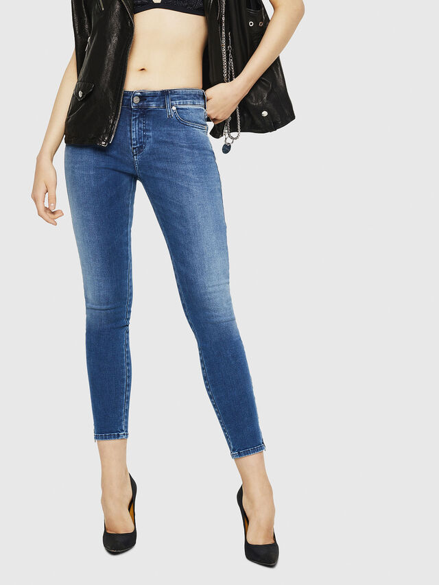 Diesel - Slandy Zip 084NM, Medium blue - Jeans - Image 1