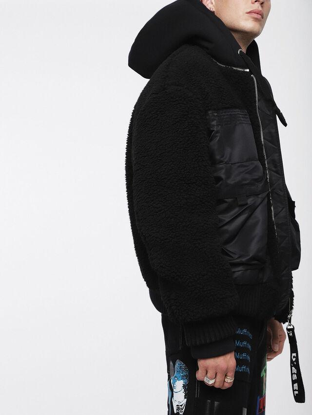 Diesel - W-PATTY, Black - Winter Jackets - Image 3