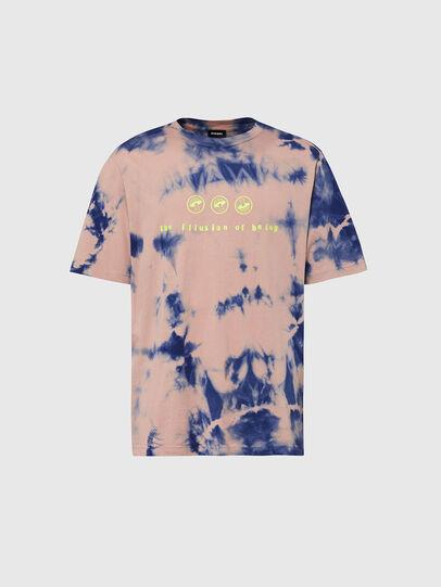 Diesel - T-JUST-SLITS-X86, Pink/Blue - T-Shirts - Image 1