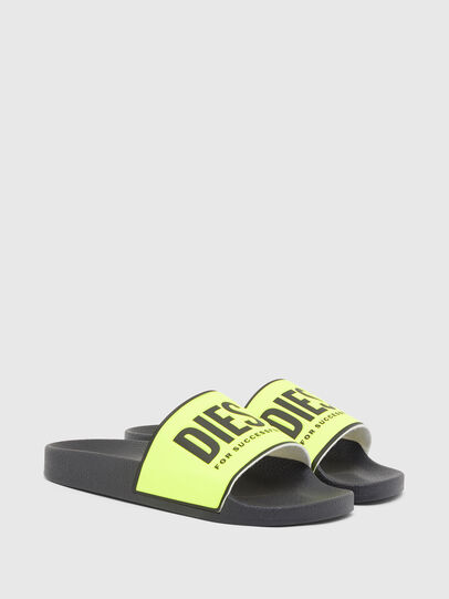 Diesel - SA-VALLA W, Black/Yellow - Slippers - Image 2