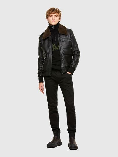 Diesel - L-FRED, Black - Leather jackets - Image 6