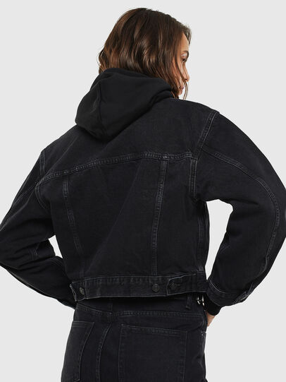 Diesel - DE-CATY, Black - Denim Jackets - Image 2