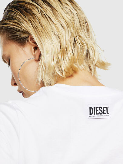 Diesel - T-SILY-YB, White - T-Shirts - Image 4