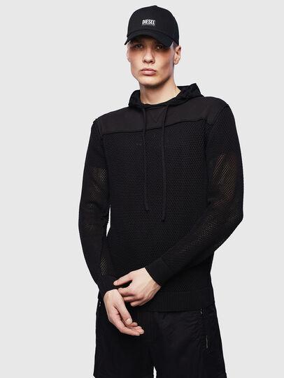 Diesel - K-CONNET, Black - Knitwear - Image 1