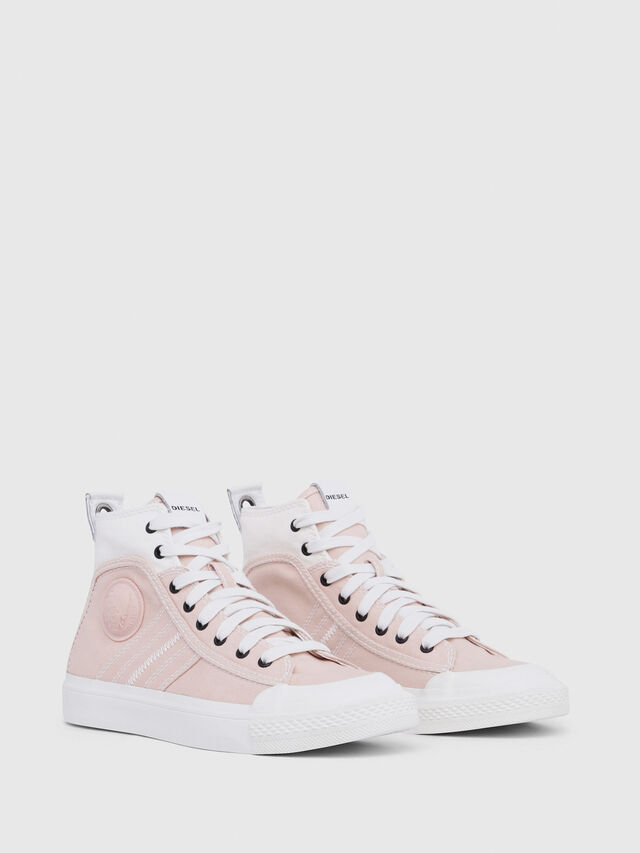 Diesel - S-ASTICO MID LACE W, Pink/White - Sneakers - Image 2