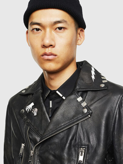 Diesel - L-GOTIV-A, Black - Leather jackets - Image 3