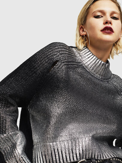 Diesel - M-FOLLY-A, Black/Silver - Knitwear - Image 3