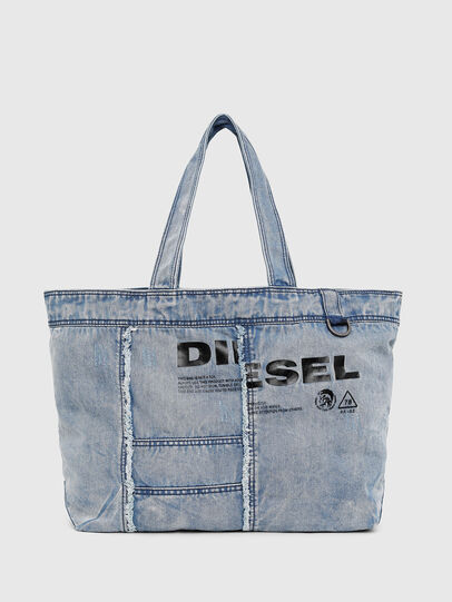 Diesel - D-THISBAG SHOPPER L, Light Blue - Shopping and Shoulder Bags - Image 1