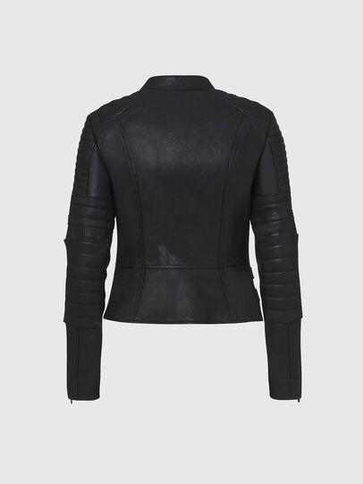 Diesel - L-IGE-NEW, Black - Leather jackets - Image 2