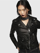 L-SERY, Black Leather - Leather jackets