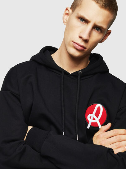 Diesel - LR-S-GIRK-HOOD-VIC, Black - Sweaters - Image 3