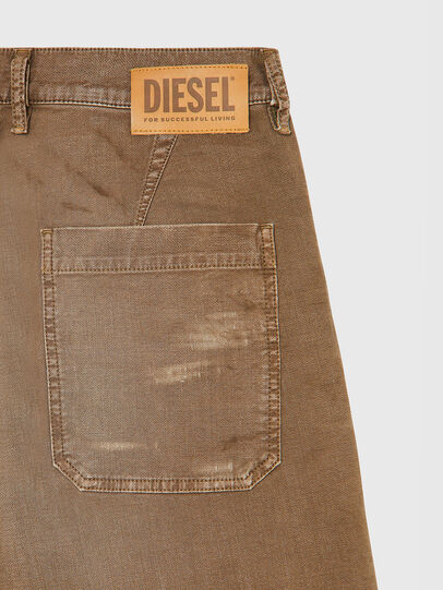 Diesel - D-AZERR-SHORT JOGGJEANS, Brown - Shorts - Image 4