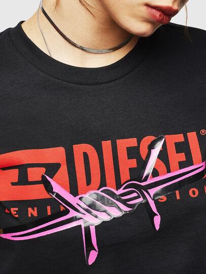 Diesel - T-SILY-ZC, Black - T-Shirts - Image 3