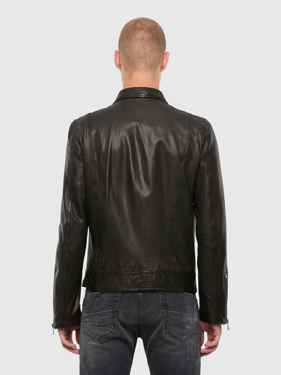 Diesel - L-LUC, Black - Leather jackets - Image 2