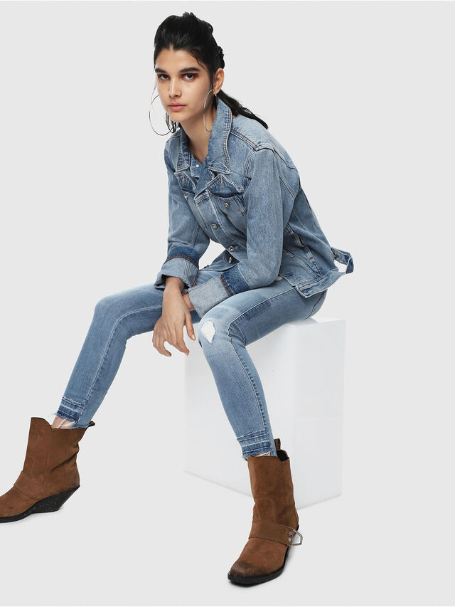 Diesel - Slandy Low 086AH, Light Blue - Jeans - Image 5