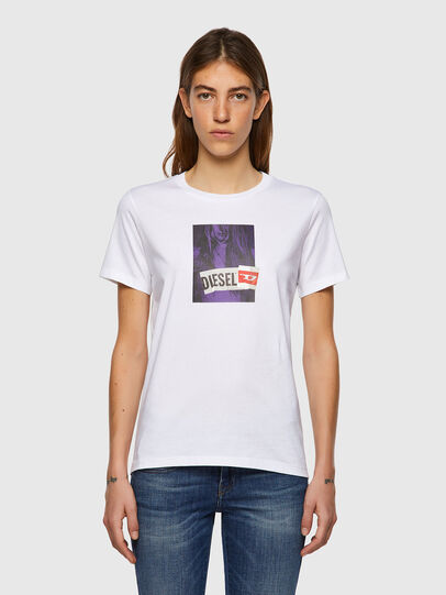 Diesel - T-SILY-B3, White - T-Shirts - Image 1