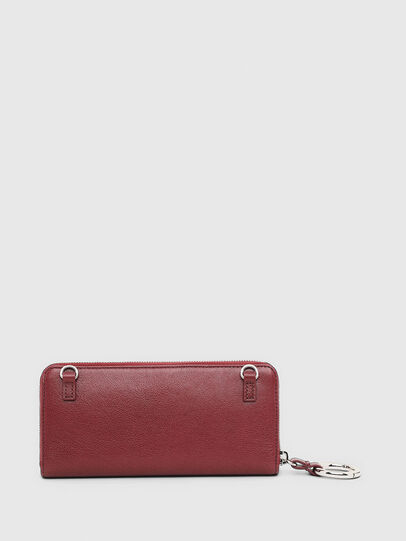 Diesel - ALLIUM, Bordeaux - Zip-Round Wallets - Image 2