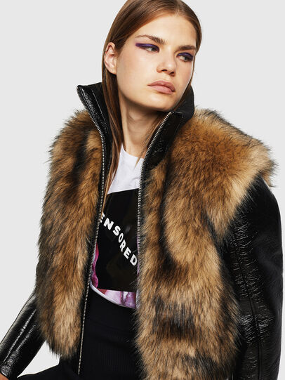 Diesel - L-BURG, Black - Leather jackets - Image 4