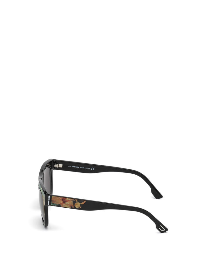 Diesel - DM0160, Black/Orange - Eyewear - Image 3