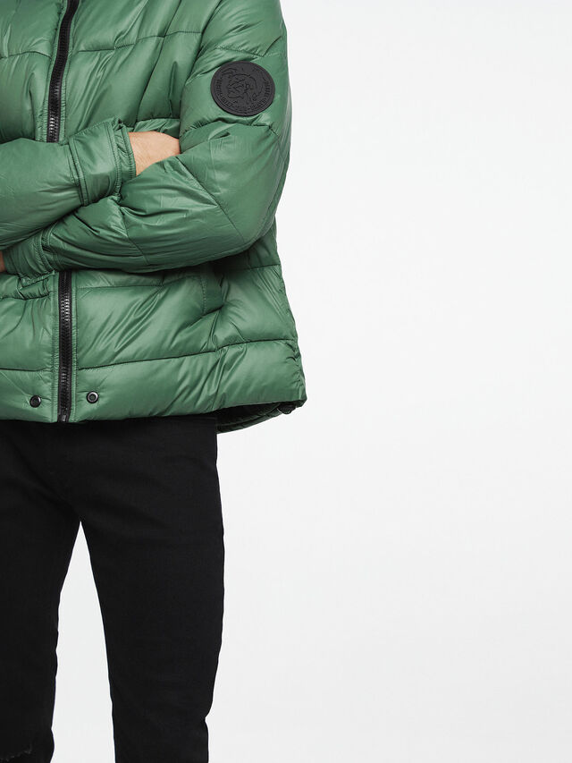 Diesel - W-SMITH-A-WH, Water Green - Winter Jackets - Image 3