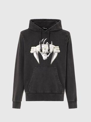 S-GIRRIB-HOOD-A71, Black - Sweaters