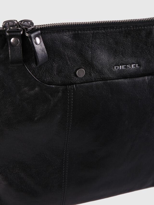 Diesel - L-L4CLUTCH, Black Leather - Clutches - Image 4
