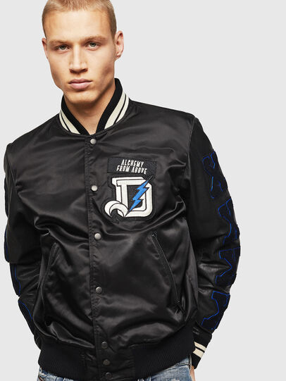 Diesel - L-KHARKOV, Black - Leather jackets - Image 1