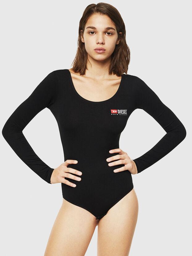 UFTK-BODY-LS, Black - Bodysuits