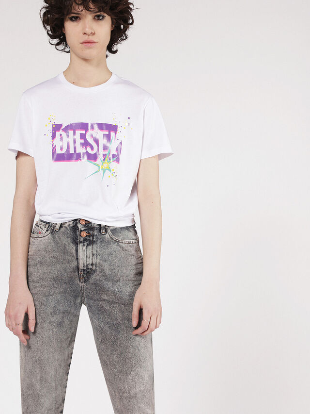 Diesel - T-EXPLO, White - T-Shirts - Image 1