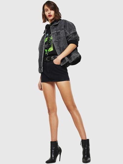 Diesel - DE-JALA, Black/Dark grey - Denim Jackets - Image 6