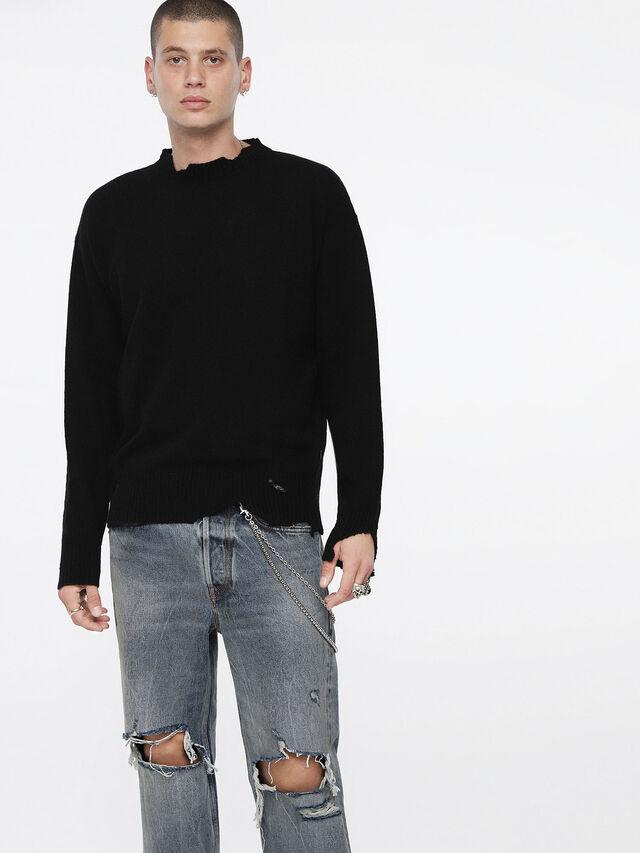 Diesel - K-MUST, Black - Knitwear - Image 1