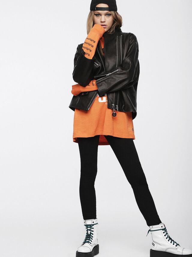 Diesel - L-DROP, Black Leather - Leather jackets - Image 6