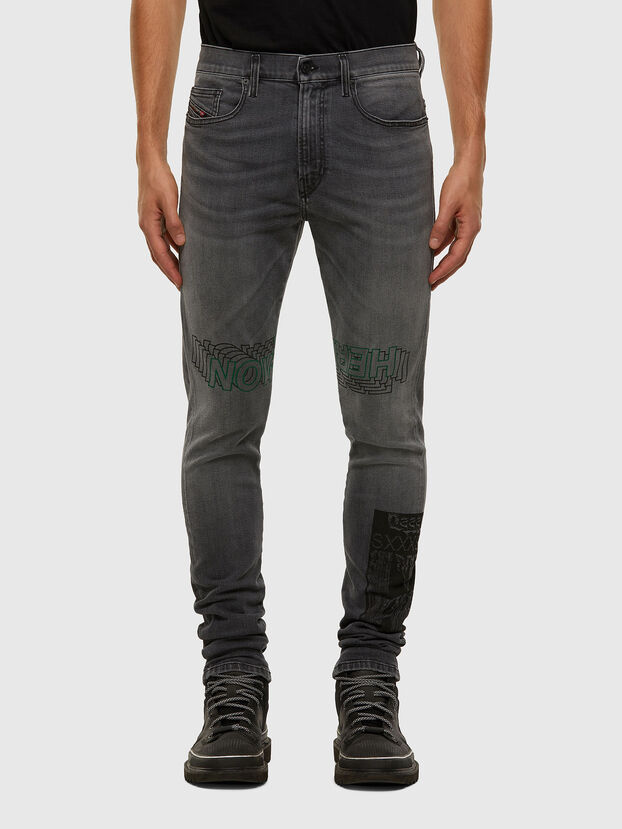 D-Amny 009GL, Black/Dark grey - Jeans