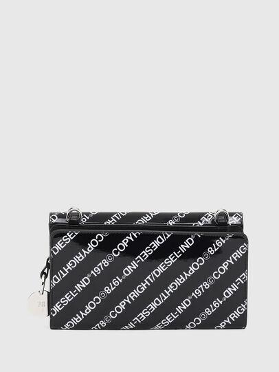 Diesel - DUPLET LCLT, Black/White - Zip-Round Wallets - Image 2