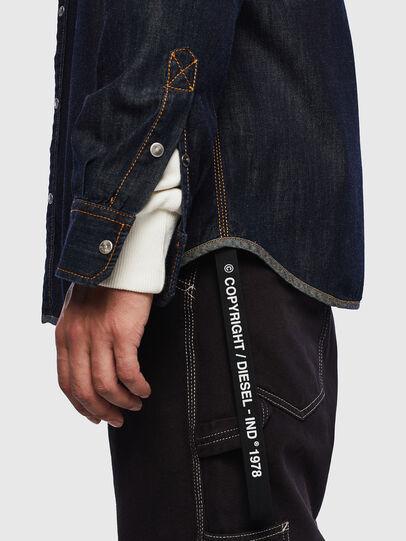 Diesel - D-MILLY, Dark Blue - Denim Shirts - Image 3